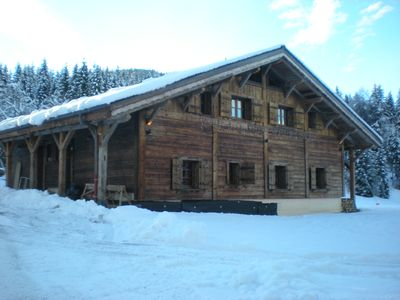 Photo for Superb duplex in a beautiful renovated Alpine chalet, surrounded by nature