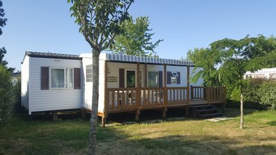 Photo for Mobile home 3 bedrooms, 2 bathrooms, near Lake Apremont and its nature