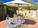 Front Walled Patio Facing Catalina Mountains