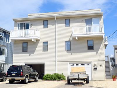 Photo for Beach Block Townhouse steps from the beach. No streets to cross. Direct ocean views.