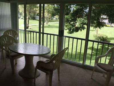 Glassed in Lanai with Golf Course View