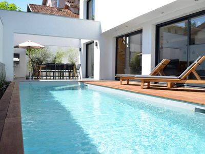 Photo for Contemporary Villa with swimming pool in Biarritz