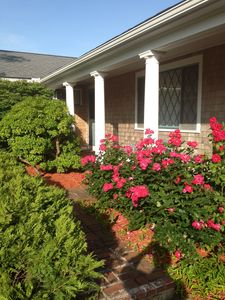 Rose Garden Entry Front Covered Porch