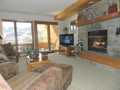 Photo for Indoor Private Hot Tub, Wood Fireplace, 2BR,2BA Great Views!  Sleeps 7