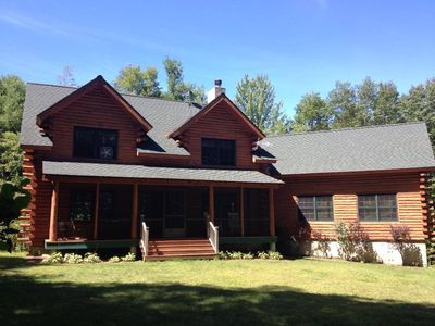 Photo for Beautiful Vacation Log Home with water views!