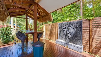 Backyard with Balinese Water Feature