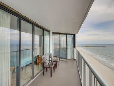 Photo for Gorgeous oceanfront views- two bedroom, two bath. Huge balcony!