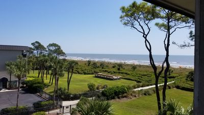 Photo for **Amazing ocean and beach view villa** Fitness center access included and bikes.