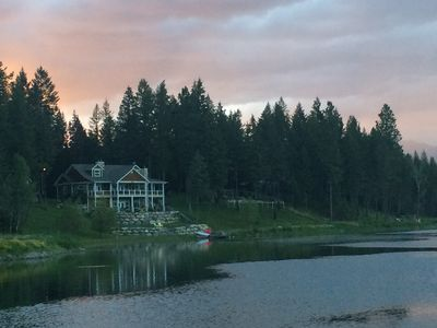 Photo for Classic Echo Lakefront Home with Majestic Swan Mountain Views.