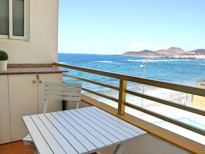 Photo for Great apartment with views to Las Canteras beach!