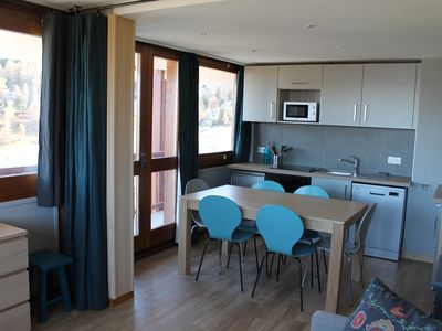Photo for Plagne Center - Renovated apartment - Mont Blanc view - Foot of the slopes