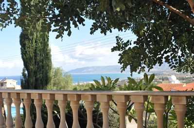 view from side patio to Latchi Harbour