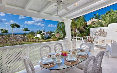Beautiful secluded Villa with views across the golf course to the Caribbean Sea.