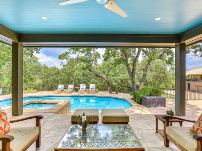 Photo for ARRIVE ELATION   Up to 10 Beds   6 MI to ATX   NEW   Pool&Spa