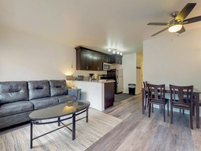 Photo for Dog-friendly condo with ski-in/out access, shared hot tub, & sauna