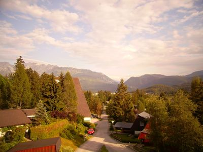 view from balcony to mount Grimming