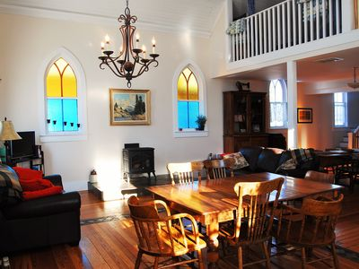 Photo for 3 bedroom renovated church, close to Waterton Park & Castle mountain Resort