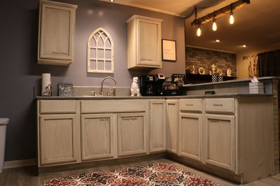 Kitchenette with Coffee Bar!