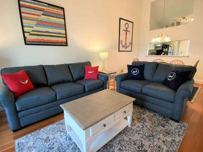 Photo for Upper Level, Fully renovated, ALL NEW FURNISHINGS, 2 ACs, & 6 Pool Passes (Fees Apply) - EA0711