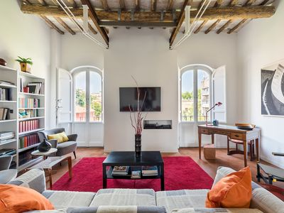 Photo for Trastevere charming penthouse