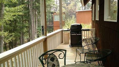 Balcony with brand new propane grill.