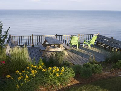 Photo for Whimsical Cottage Directly on Lake Michigan with Private Beach