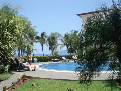 Pool and ocean view from the patio