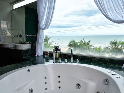Photo for The Beach Palace 2BR Luxury Beachfront Condo Chaam