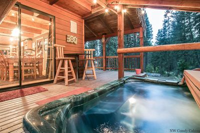Private covered hot tub
