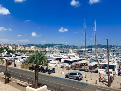 Photo for Luxury 2 bedroom apartment with views of the old port of Cannes