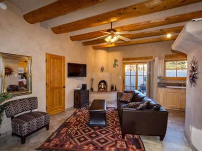 Photo for Contemporary Santa Fe Style, Walk to The Plaza, Kiva Fireplace