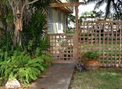 Garden Gate Entrance to your private yard.