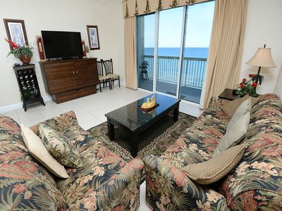 Photo for Gulf front condo w/ free WiFi, shared pools, ocean views, close to attractions!