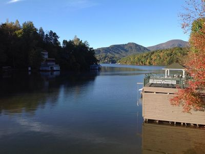 Photo for Beautiful Lake front home on Large quiet cove with Awesome Sundeck !!!