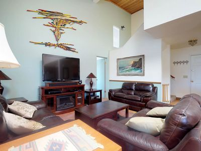 Photo for NEW LISTING! Spacious, waterfront home w/lake view, private dock & shared pool