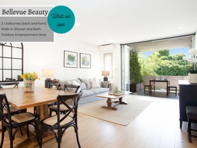 Photo for BELLEVUE BEAUTY - Modern and spacious 2-bedroom apartment in the heart of Bellevue Hill.