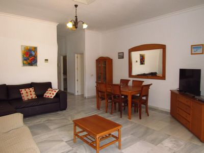 Photo for Colossus 2 bedrooms with 50m² terrace and 250m from the beach and services
