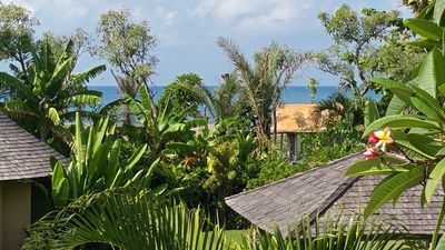 "View of the Indian Ocean from ""Timor"" second floor"