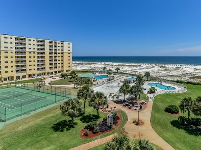 Photo for NEW LISTING! Gulf-front w/ balcony, shared pool, hot tub, & beach access