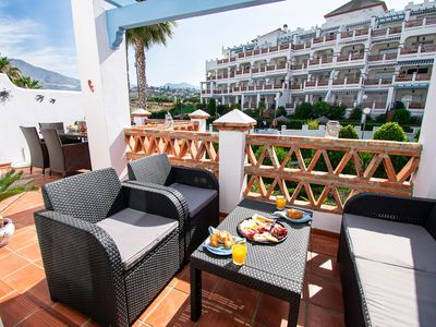 Photo for Luxury penthouse Mijas golf, beautifully decorated with mountain views.