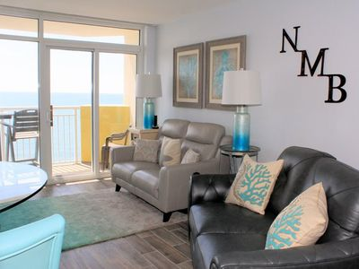 Photo for Oceanfront. North Tower. Cresnt. Beach. 1BR/1BA.  King/Db Murphy. 2 TVs, 2DVDs, W/D, WIFI. Indoor/outdoor pools, lazy rivers, jacuzzis, kiddie pools, fitness room, on-site restaurant.