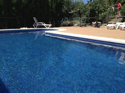 Private fenced pool and view