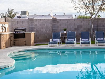 Photo for Old Town! - Sleeps 16, Ent Dist! + Pool + Firepit + BBQ + Putting Green + Bar