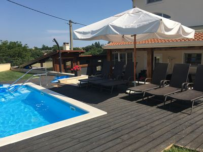 Photo for Great Family Villa, Private Pool & hot tub, peaceful village. Close To Rovi