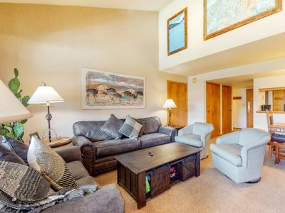 Photo for NEW LISTING! Expansive mountain condo w/ sunroom, fireplace & easy slope access!