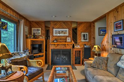 This 3-bedroom, 2-bathroom vacation rental cottage sleeps 8 guests.