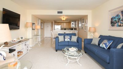 Photo for Anchorage Resort 5th floor condo in Siesta Key with private beach access, pool, boat dock!