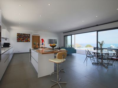 Photo for Modern villa with panoramic views of the Gulf of Ajaccio