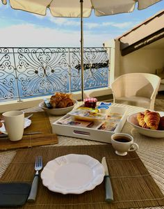 Our terrace is the perfect breakfast location