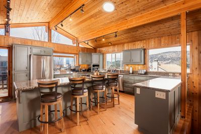 Large Updated Kitchen with Lots of Granite and Natural Light